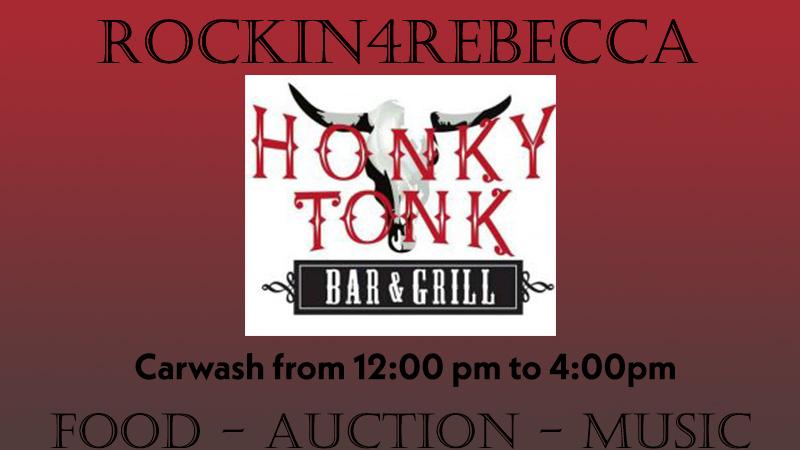 Rockin 4 Rebecca Car Wash Fundraiser at Honky Tonk Bar & Grill