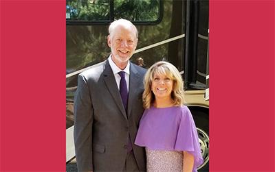 Lisa Walker and Dr. Pierce